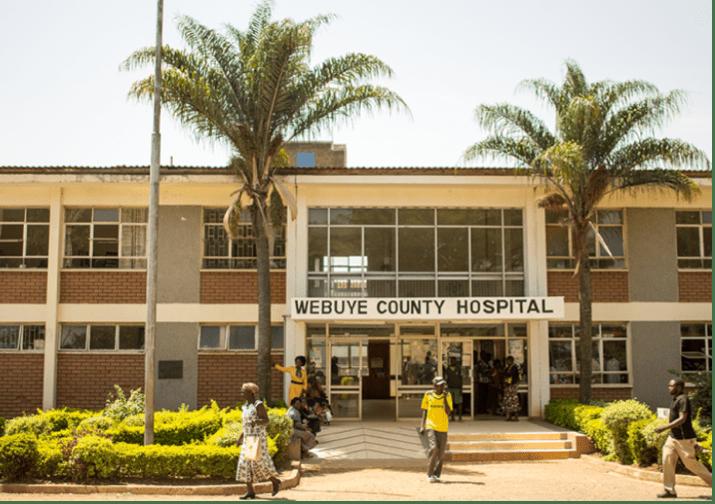 Outside of the Bungoma County hospital